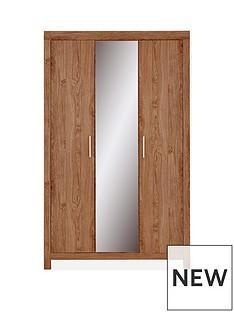 Cuba 3 Door Wardrobe With Mirror