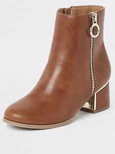 river-island-girls-block-heel-boots-brown