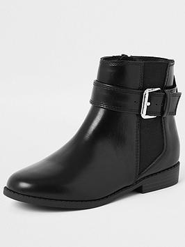 river-island-girls-buckle-boots--black