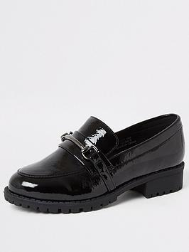 river-island-girls-patent-snaffle-loafers-black