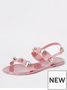 river-island-girls-jewel-jelly-sandals-pink