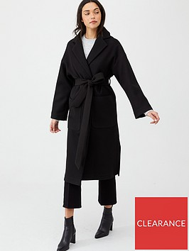 v-by-very-belted-wrap-coat-black