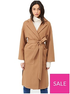 v-by-very-belted-wrap-coat-camel
