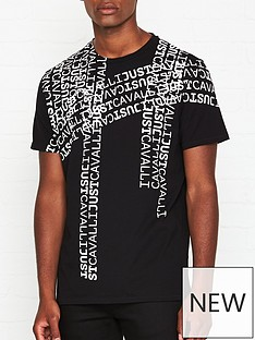 just-cavalli-all-over-logo-print-t-shirt-black