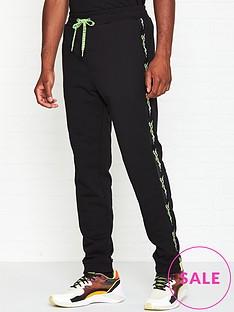 just-cavalli-just-tiger-tape-joggers-black