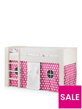 julian-bowen-nova-mid-sleeper-bed-with-pink-star-tent