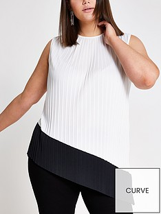 ri-plus-pleated-asymetric-top-white