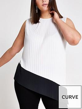 ri-plus-pleated-asymetric-top-white