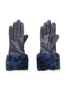 ted-baker-fleuri-faux-fur-cuff-gloves