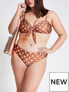 ri-plus-ri-plus-spot-print-bikini-bottoms-brown