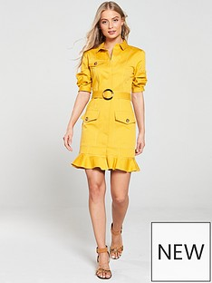 river-island-belted-shirt-dress-yellow