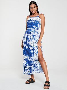 v-by-very-tie-dye-beach-maxi-dress-snake-print