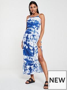 v-by-very-tie-dye-beach-maxi-dress-snake-print