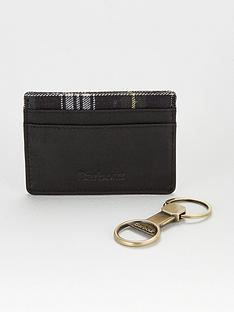 barbour-keyring-amp-card-holder-gift-set