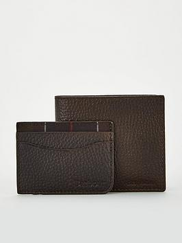 barbour-milled-leather-wallet-and-card-holder-gift-set-dark-brown