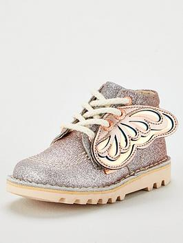 kickers-girls-faeries-glitter-boots-silverrose-gold