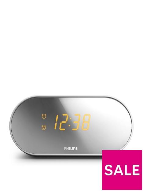 philips-clock-radio-dual-alarm-fm-digital-tuner-gentle-wake-mirror-design