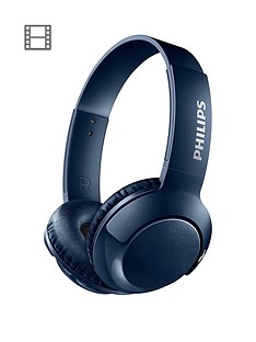 philips-bass-on-ear-wireless-bluetoothnbspheadphones-32mm-driver-flat-foldnbsplightweight-passive-noise-isolation-strong-bass