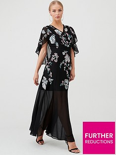 v-by-very-cape-embellished-maxi-dress-blackmulti