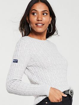 superdry-croyde-cable-knit-jumper-ice-grey-marl