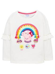 peppa-pig-girls-rainbow-frill-top-white