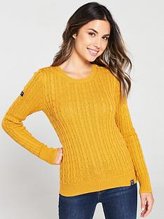superdry-croyde-cable-knit-jumper-ochre