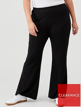 v-by-very-curve-crepe-skinny-kick-flare-trousers-black