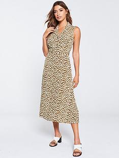 warehouse-woodcut-utility-shirt-dress-tan