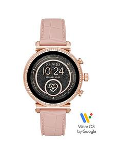 michael-kors-michael-kors-sofie-full-display-rose-gold-glitz-dial-pink-snake-silicone-strap-ladies-smart-watch