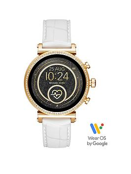 michael-kors-michael-kors-sofie-full-display-gold-glitz-dial-white-snake-silicone-strap-ladies-smart-watch
