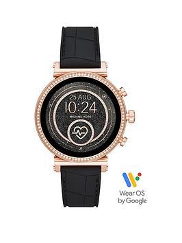 michael-kors-michael-kors-sofie-full-display-rose-gold-glitz-dial-black-snake-silicone-strap-ladies-smart-watch