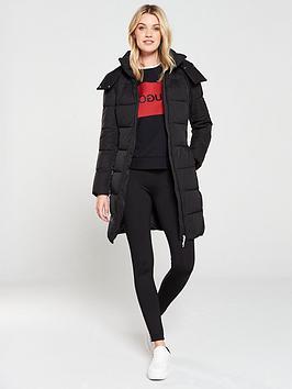 hugo-padded-longline-coat-black