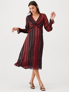 v-by-very-red-polka-dot-twist-front-midi-dress-polka-dot