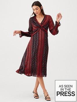 v-by-very-red-polka-dot-twist-front-midi-dress-polka-dot