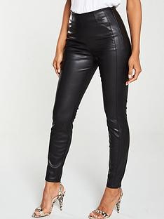 boss-casual-stretchy-leather-trouser-black