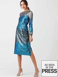 v-by-very-ombre-sequin-dress-silver
