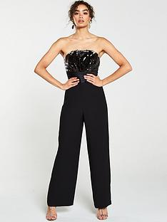 v-by-very-bandeau-reversible-sequin-jumpsuit-black