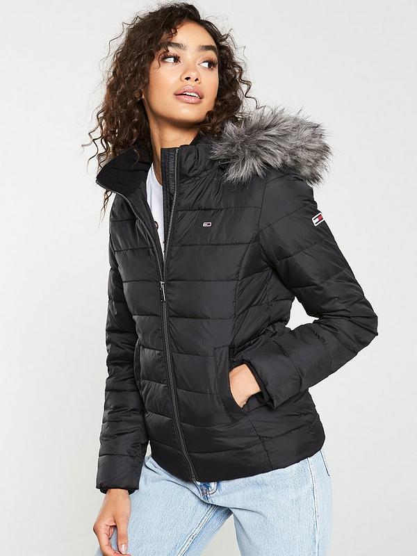 online here separation shoes no sale tax Essential Hooded Down Jacket - Black