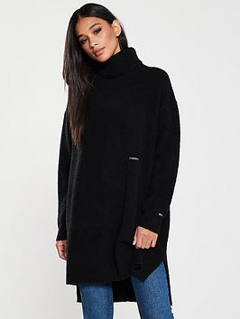 tommy-jeans-turtle-neck-split-sweater-black