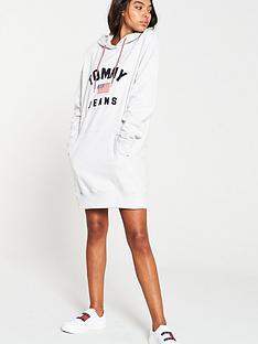 tommy-jeans-logo-hoodie-dress-grey