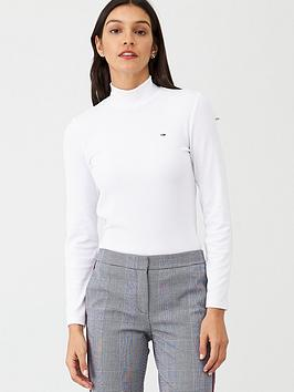 tommy-jeans-high-neck-long-sleeve-top-white
