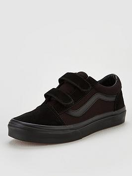 vans-old-skool-childrens-trainers-black