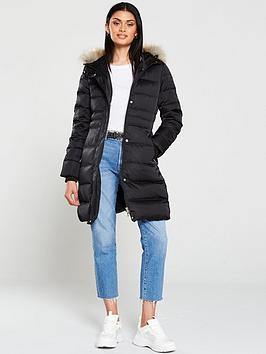 calvin-klein-jeans-midweight-down-long-nylon-padded-jacket-black