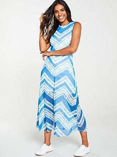 v-by-very-mesh-tie-dye-midi-dress-blue