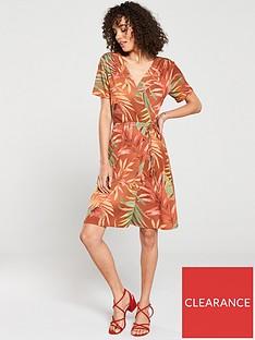 v-by-very-jersey-mini-dress-palm-print