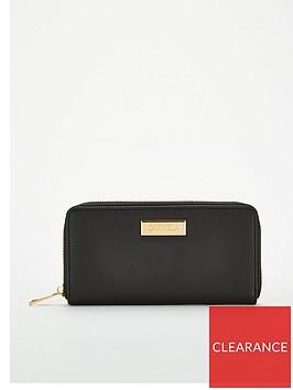 carvela-annabelle-zip-wallet-black