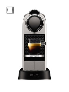 Nespresso Nespresso By KrupsCitiZXN741B40Pod Coffee Machine - Silver