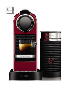 Nespresso Nespresso by Krups CitiZ & Milk XN761540 Pod Coffee Machine - Cherry Red