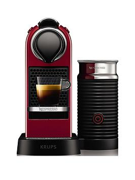 Nespresso Nespresso By Krups Citiz &Amp; Milk Xn761540 Pod Coffee Machine - Cherry Red