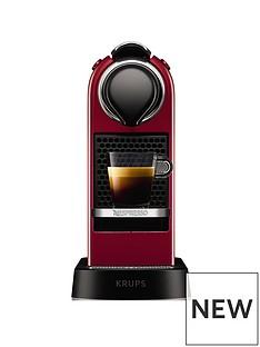 Nespresso Nespresso by Krups CitizXN741540Pod Coffee Machine - Cherry Red